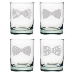 $44 http://www.premierhomeandgifts.com/products/bow-tie-double-old-fashioned-glasses