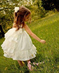 Filles filles fleur fille robe robe de première par rosieposiegifts
