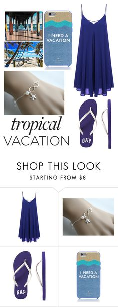 """Tropical"" by annawell-1 ❤ liked on Polyvore featuring Gap and Kate Spade"