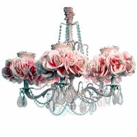 Good for a really girl lovely room Previous Pinner:Pink Gingham Rose Chandelier