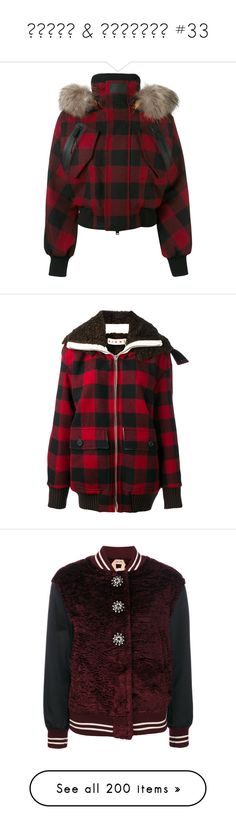 """""""ϲօɑԵՏ & յɑϲƘҽԵՏ #33"""" by booknerd1326 ❤ liked on Polyvore featuring outerwear, jackets, red, fur-hood jacket, red ski jacket, red jacket, red checkered jacket, dsquared2, patterned bomber jacket and faux-leather bomber jackets"""