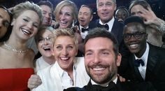 """Selfie of the Year!"" Ellen DeGeneres' Oscars Selfie Is The Most Retweeted Tweet Of All Time, Breaking A Million Retweets, and reportedly crashing Twitter."