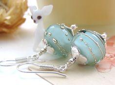 Mint earrings <3 them