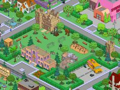 Simpsons Springfield Map, Springfield School, Springfield Tapped Out, The Simpsons Game, Clash Of Clans, School Design, Elementary Schools, The Neighbourhood, Adventure