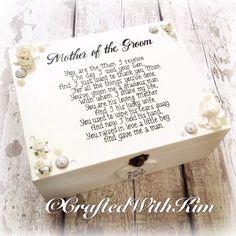 #motherofthegroom #wedding #keepsake #personalised #handmade #gift wooden box with personalised heart of groom and brides name \ wedding date #handwritten Find me on Facebook to order - craftedwithkim