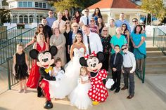 Danielle and Ryan had some very special guests make an appearance on their special day! Mickey and Minnie greeted and danced with guests at their wedding reception!
