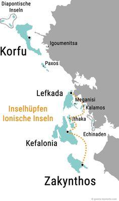 Inselhopping Ionische Inseln Griechenland Karte Route Mykonos, Santorini, Skiathos, Zakynthos, Bond Issue, Der Bus, Stress Causes, Foreign Policy, World Trade