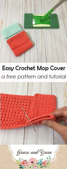 Easy Crochet Mop Cover A Free Pattern and Tutorial Easy crochet mop cover pattern perfect for cleaning! The post Easy Crochet Mop Cover A Free Pattern and Tutorial appeared first on Crochet ideas. Crochet Kitchen, Crochet Home, Crochet Gifts, Free Crochet, Knit Crochet, Crochet Projects, Sewing Projects, Diy Projects, Sewing Ideas
