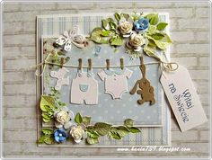 Witaj na świecie Baby Boy Cards, New Baby Cards, Scrapbooking, Scrapbook Cards, Pinterest Cards, Diy And Crafts, Paper Crafts, Shabby Chic Cards, Cricut Cards