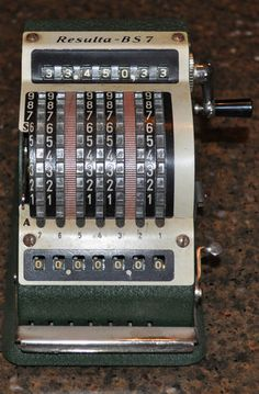 Resulta BS 7 Adding Machine West Germany with Cover Vintage