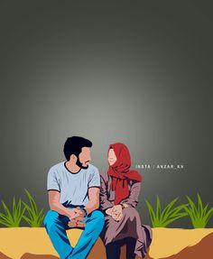 Love Cartoon Couple, Cute Couple Art, Cute Love Cartoons, Anime Love Couple, Cute Couple Pictures, Bff Drawings, Anime Couples Drawings, Cute Muslim Couples, Cute Couples
