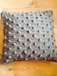 popcorn stitch pillow