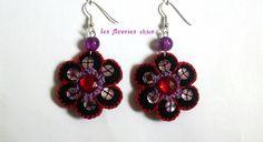 Sequinned Felt Floral Earrings