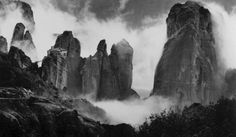 """Meteora (meaning """" Suspended in the air """") - Balafas (Photographer Open Shutters, Black White Photos, Black And White, Costa, Alfred Stieglitz, Night Pictures, Great Photographers, Athens, Old Photos"""