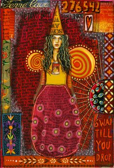 reds and golds.... art journaling by Teesha Moore