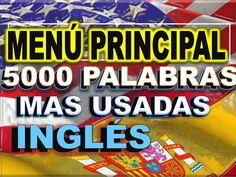 MENÚ PRINCIPAL del programa de vídeos de  LAS 5000 PALABRAS MAS USADAS E...