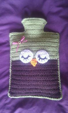 Crochet owl hot water bottle :)
