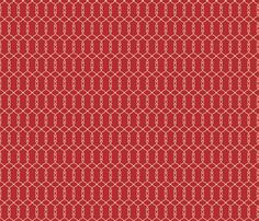 Scroll Red Fabric By Lana Gordon Rast On Spoonflower