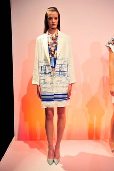 while i think the floor plan jacket is fantastic, this collection has some AMAZING prints - love!    Clover Canyon Spring 2014 Ready-to-Wear Runway - Clover Canyon Ready-to-Wear Collection