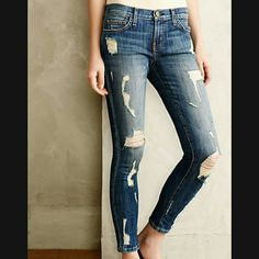 Current/Elliot Stiletto Cropped Skinny Jeans New with tags! Current/Elliott Jeans Ankle & Cropped