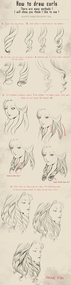 114 - How to draw curls by Scarlett-Aimpyh