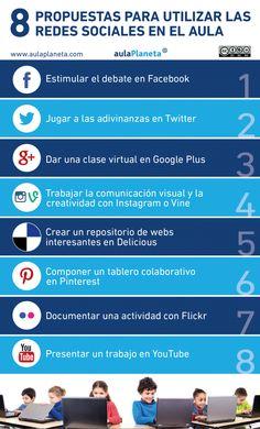 INFOGRAFÍA_8 propuestas para utilizar las redes sociales en el aula