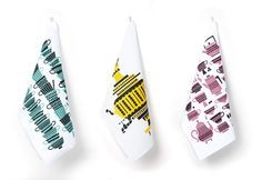 "Polkka Jam ""Tsai & Cafe"" tea towels 2011."