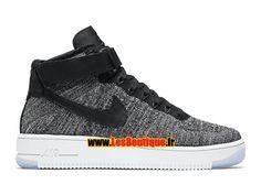Nike Wmns Air Force 1 High Ultra Flyknit - Chaussure Nike Sportswear Pas Cher Pour Femme/Enfant Noir/Blanc/Gris froid/Noir 818018-001-Boutique Nike Pas Cher (FR) - LesBoutique.fr