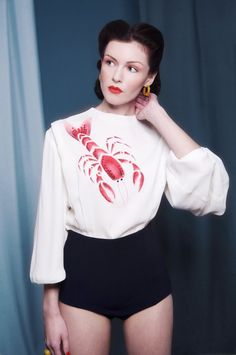 "LOVE.  I could have a ""Schiaparelli"" lobster blouse -- and so could you!  Be still my heart!"