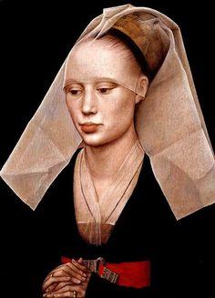peinture belge : portrait de femme, 1460, Rogier van der Weyden, 15e siècle