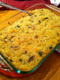 chicken & rice casserole with mushrooms & squash @ Southernspoon blog