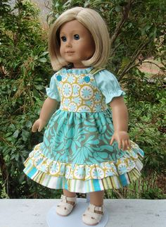 American Girl Doll Clothes Dress Peasant Top SewSoNancy Boutique on Etsy, $20.00
