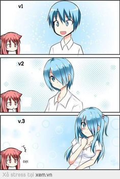 :V Humour, El Humor, Anime Mems, Funny Comics, Funny Cartoons, Eroge, Anime Life, Doujinshi, Anime Couples