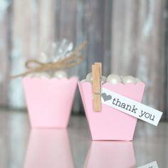 Mini Scallop Favor Boxes-Light Pink