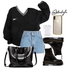 Best Teen Fashion Part 2 Teen Fashion Outfits, Edgy Outfits, Cute Casual Outfits, Retro Outfits, Grunge Outfits, Look Fashion, Korean Fashion, Vintage Outfits, Prep Fashion
