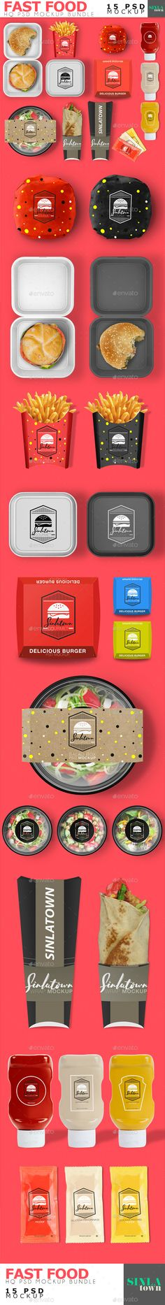 Fast Food Product Mockup #Bundle - Product #Mock-Ups #Graphics Download here: https://graphicriver.net/item/fast-food-product-mockup-bundle/20038737?ref=alena994