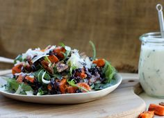 Sweet Potato, Pear, and Wild Rice Salad// Loves Food, Loves to Eat