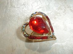vintage weiss gp red ab crystal baguettes by fadedglitter42263, $48.00