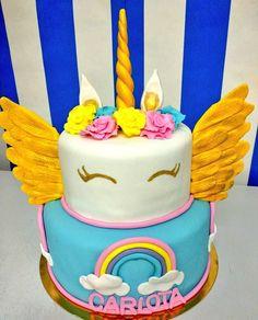 Las tartas unicornio están de moda!! A ver qué os parece ésta www.tartasgourmet.com #tartaunicornio #tartafondant #tartapersonalizada #tartaadomicilio #tartamadrid #tartamuyrica #madridcakes #tartasartesanales #tartasricas