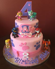Trendy Birthday Cake Girls Kids Paw Patrol Ideas You are in the right place about healthy Birthday Cake Here we offer you the most beautiful pictures about the vanilla Birthday Cake you are looking fo Girls Paw Patrol Cake, Girl Paw Patrol Party, Paw Patrol Birthday Girl, Paw Patrol Cupcakes, Birthday Cakes Girls Kids, 4th Birthday Cakes, Birthday Ideas, Birthday Cards, Happy Birthday