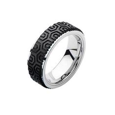 ARK (karbón)+chirurgická oceľ - pánsky prsteň-industriálny dizajn, veľkosť: 67,5 Cool Rings For Men, Unique Rings, Minimalist Earrings, Minimalist Jewelry, Circle Earrings, Boho Earrings, Anchor Chain, Mens Stainless Steel Rings, Geometric Jewelry