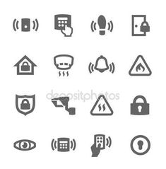 Wireless Alarm System, Home Security Alarm System, Home Security Tips, Security Companies, Perimeter Security, Intruder Alarm, Security Surveillance, It Works, Vector Icons