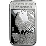 Shop for a 1 oz Silver APMEX bar that depicts the Year of the Rooster. These high quality Silver bullion bars are popular with collectors and investors alike. Each coin is fine Silver, adding value to your collection. Buy a 1 oz Silver bar today. Gold Bullion Bars, Bullion Coins, Silver Bullion, Mint Coins, Gold Coins, 1 Carat, Silver Investing, Coin Auctions, Silver Eagles