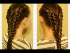 Diving Mermaid Braid Hairstyle Tutorial, Inspired By Flettemamma - YouTube