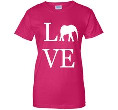 Love Elephant Shirt, I Love Elephants Graphic T-Shirt Tee