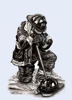sketches of firefighters FDNY Firefighter (WIP) - WetCanvas Firefighter Paramedic, Firefighter Love, Wildland Firefighter, Volunteer Firefighter, Fire Dept, Fire Department, Firefighter Drawing, Firefighter Tattoos, Firefighter Pictures