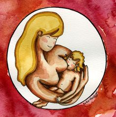Breastfeeding a Toddler - Painting