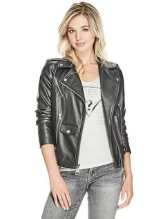Metallic Moto Jacket at Guess