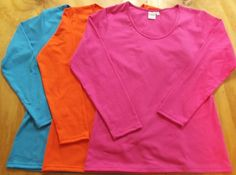 Available in a huge range of colours and sizes 8-26. Made from super soft Australian made cotton jersey. http://www.lahay.com.au/womens-long-sleeve-t-shirt #Australianmade #handmade