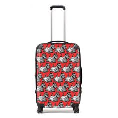 Stand out from the crowd and show your love for all things Scottish, wherever you are in the world! This fabulous Gillian Kyle suitcase comes in a variety of size options, including an adorable child's option and is adorned with Gillian's cheeky ''Scotties'' design in bright red and black. Inspired by Scotland's famous Scottish Terriers, this bold and witty case will make you the envy of the baggage carousel! **OUR SUITCASES ARE MADE TO ORDER AND WILL SHIP TO YOU IN AROUND 1 WEEK**